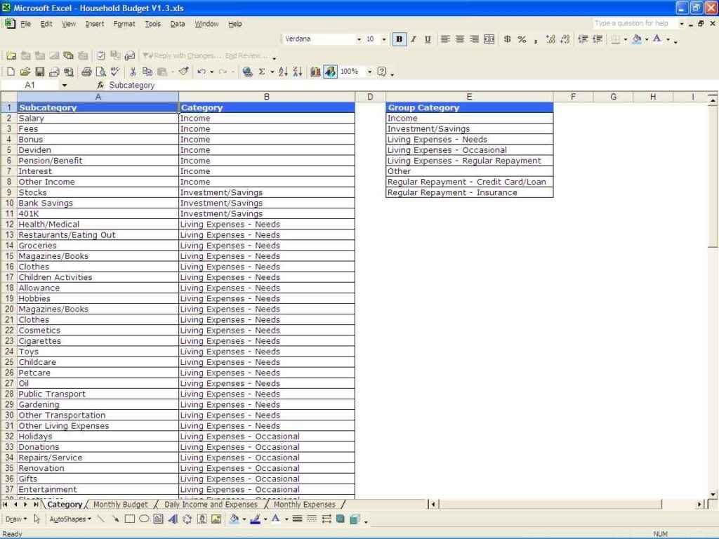 Sample Personal Budget Spreadsheet Budget Spreadsheet Spreadsheet Templates For Busines Personal