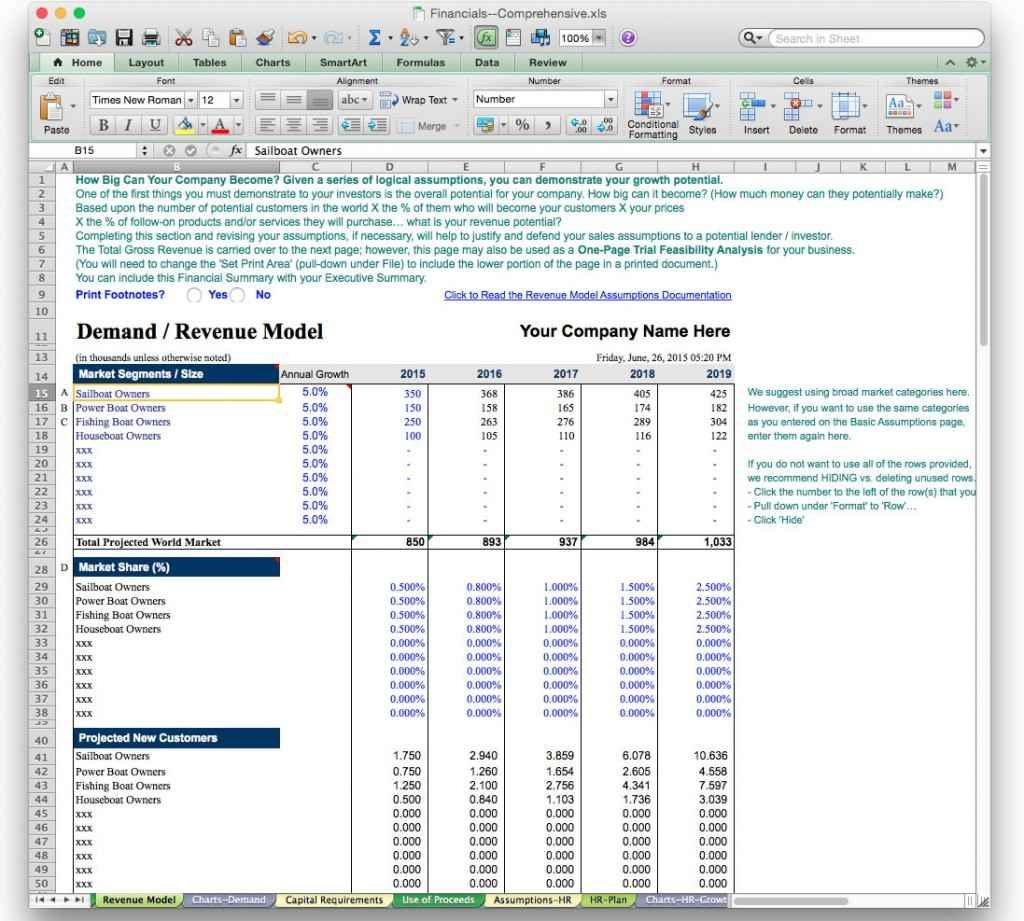 Forecast Spreadsheet Sales Forecast Spreadsheet Template