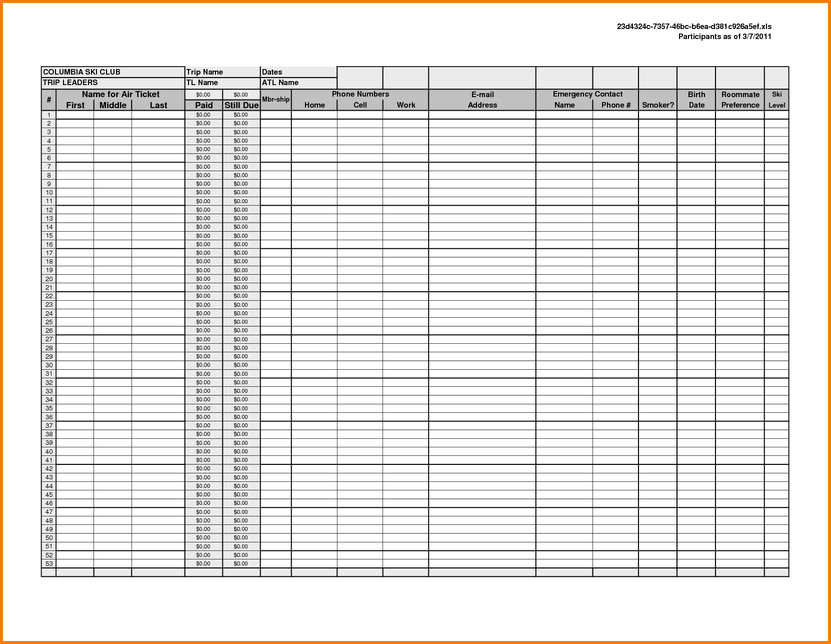 Accounting Spreadsheet Simple Business Accounting