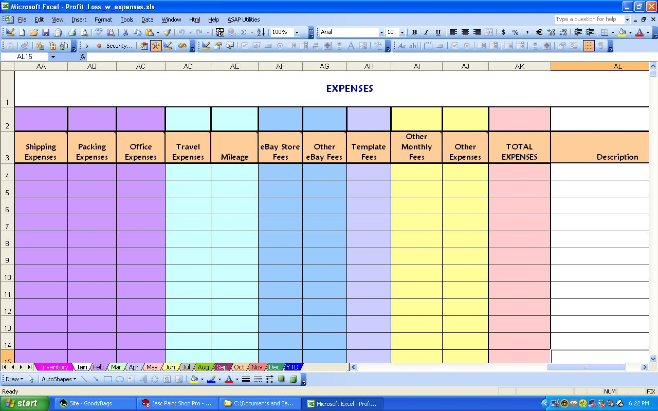 Profit And Expense Spreadsheet Expense Spreadsheet Profit Loss Spreadsheet Spreadsheet Templates