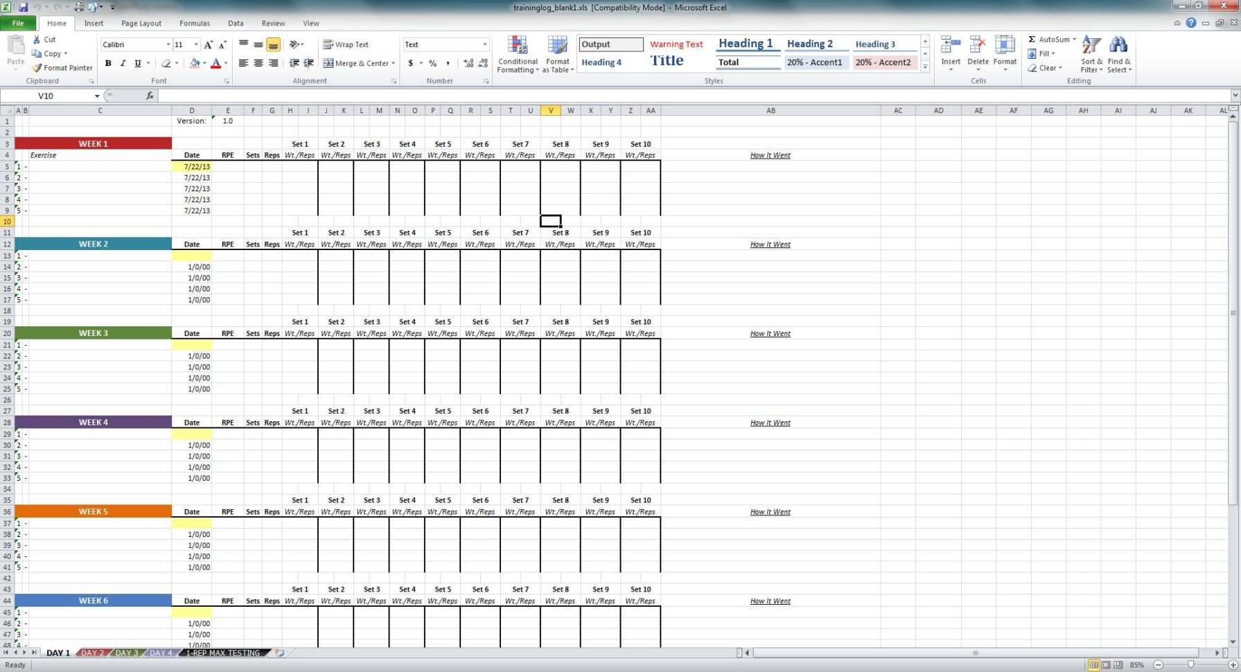 Excel Training Matrix Examples Spreadsheets Training