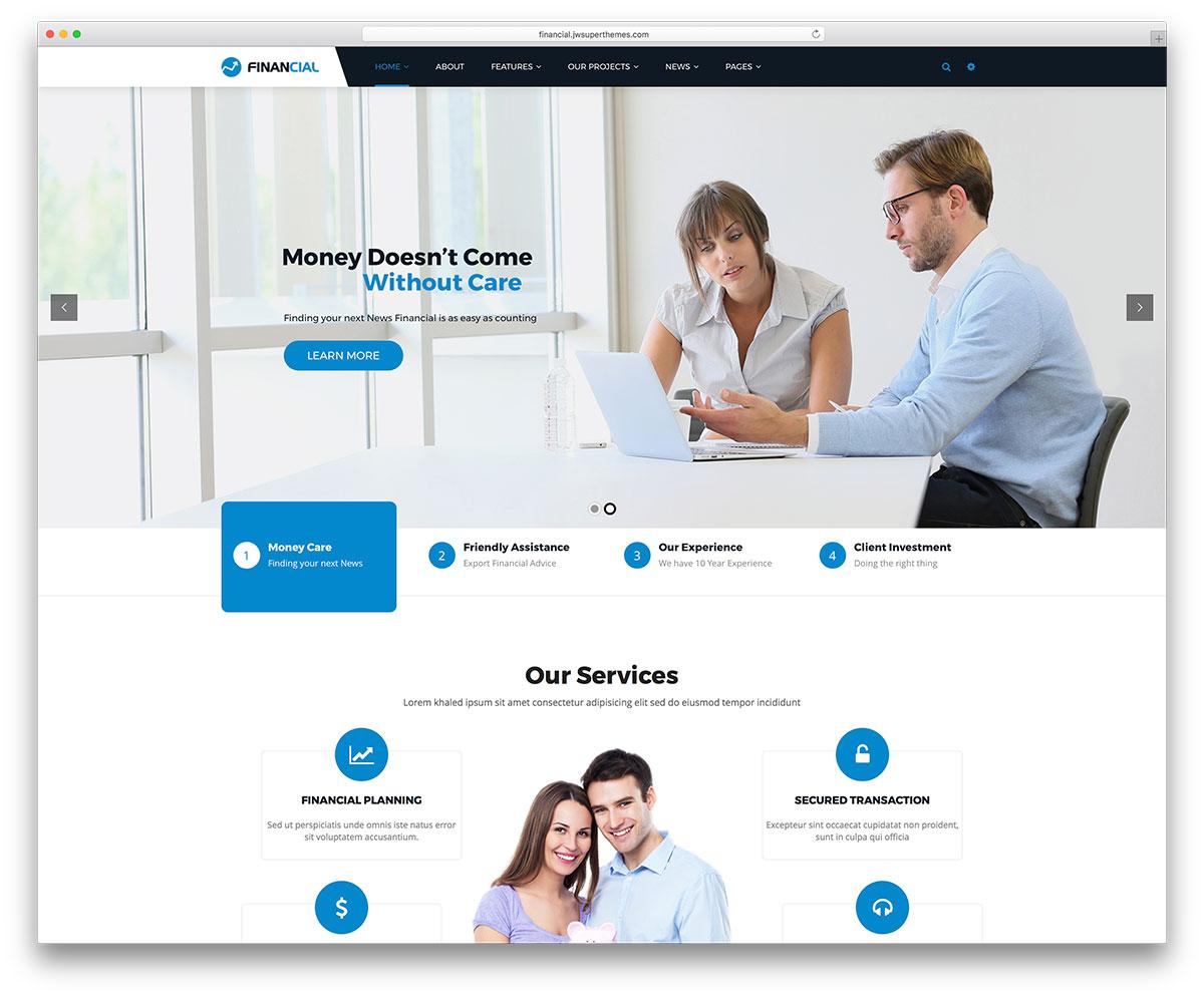 20 Best Financial Company Wordpress Themes