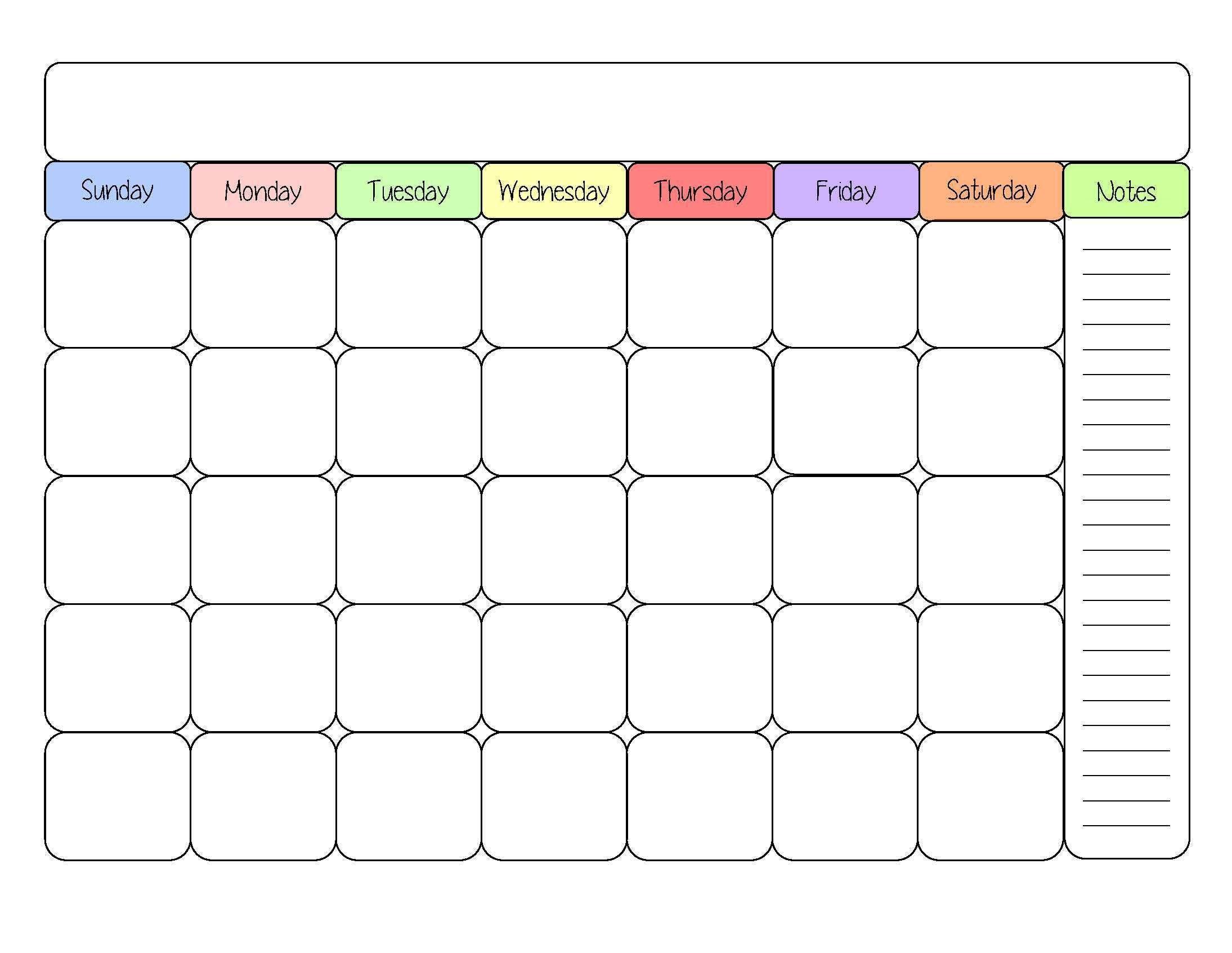 Printable Calendars Cute Blank Calendar Templates Sight Word Throughout Blank Worksheet