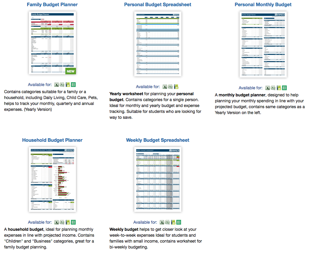 9 Useful Budget Worksheets That Are 100 Free Intended For