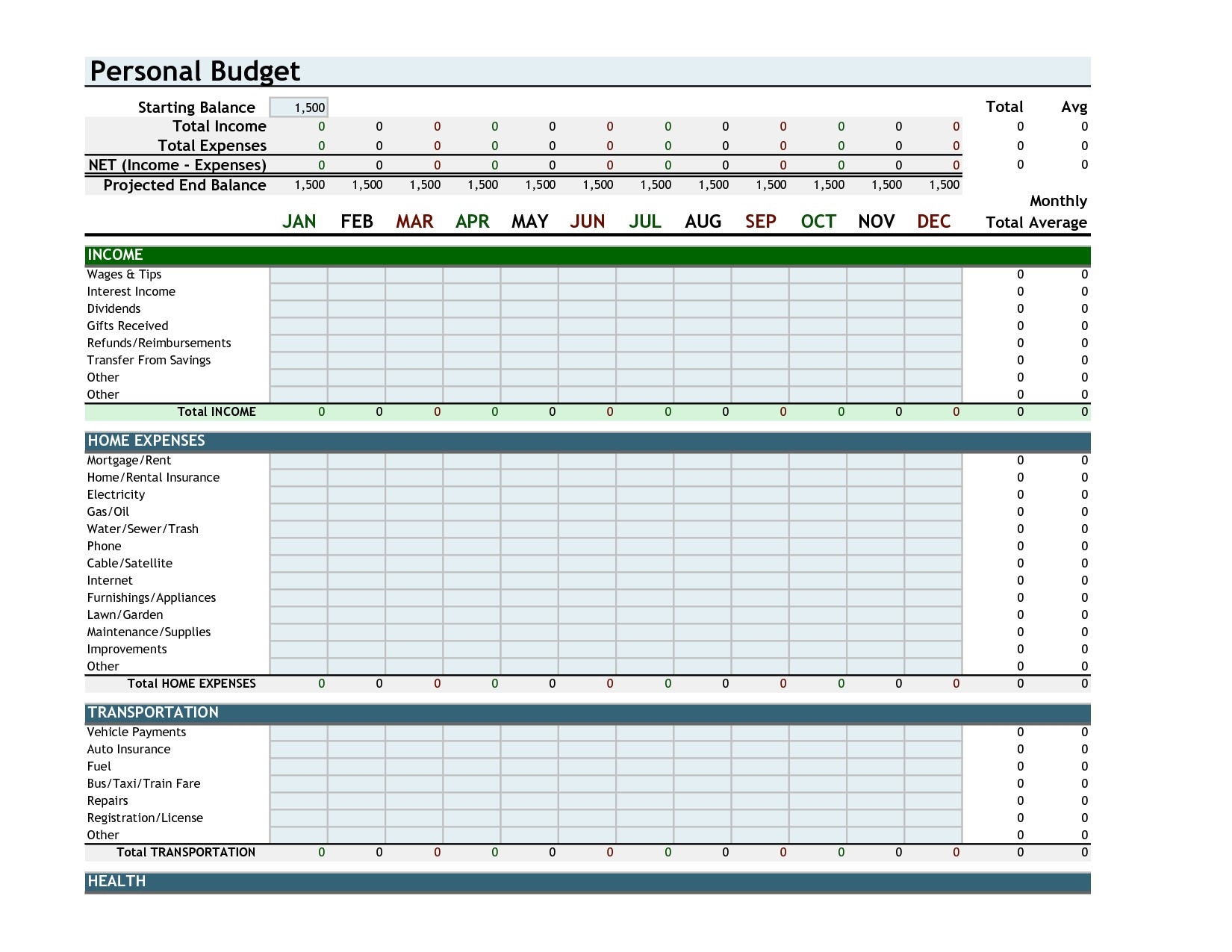 Monthly Budget Planner Excel Free Download Example Of