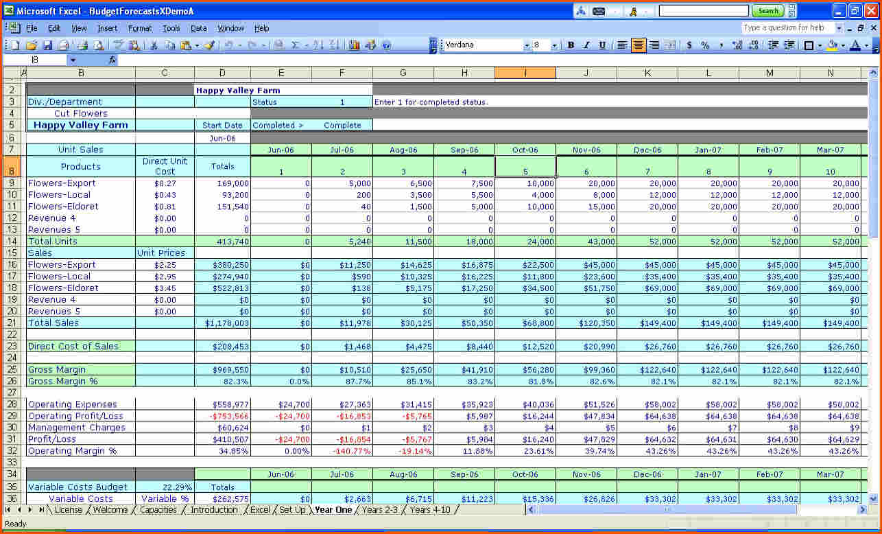 Excel Financial Worksheet Template Resourcesaver
