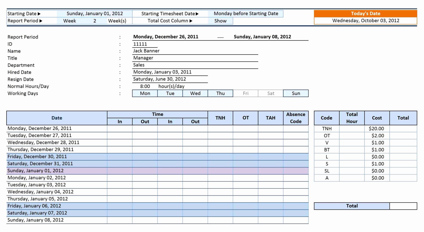 Excel Payroll Template Payroll Spreadsheet Template