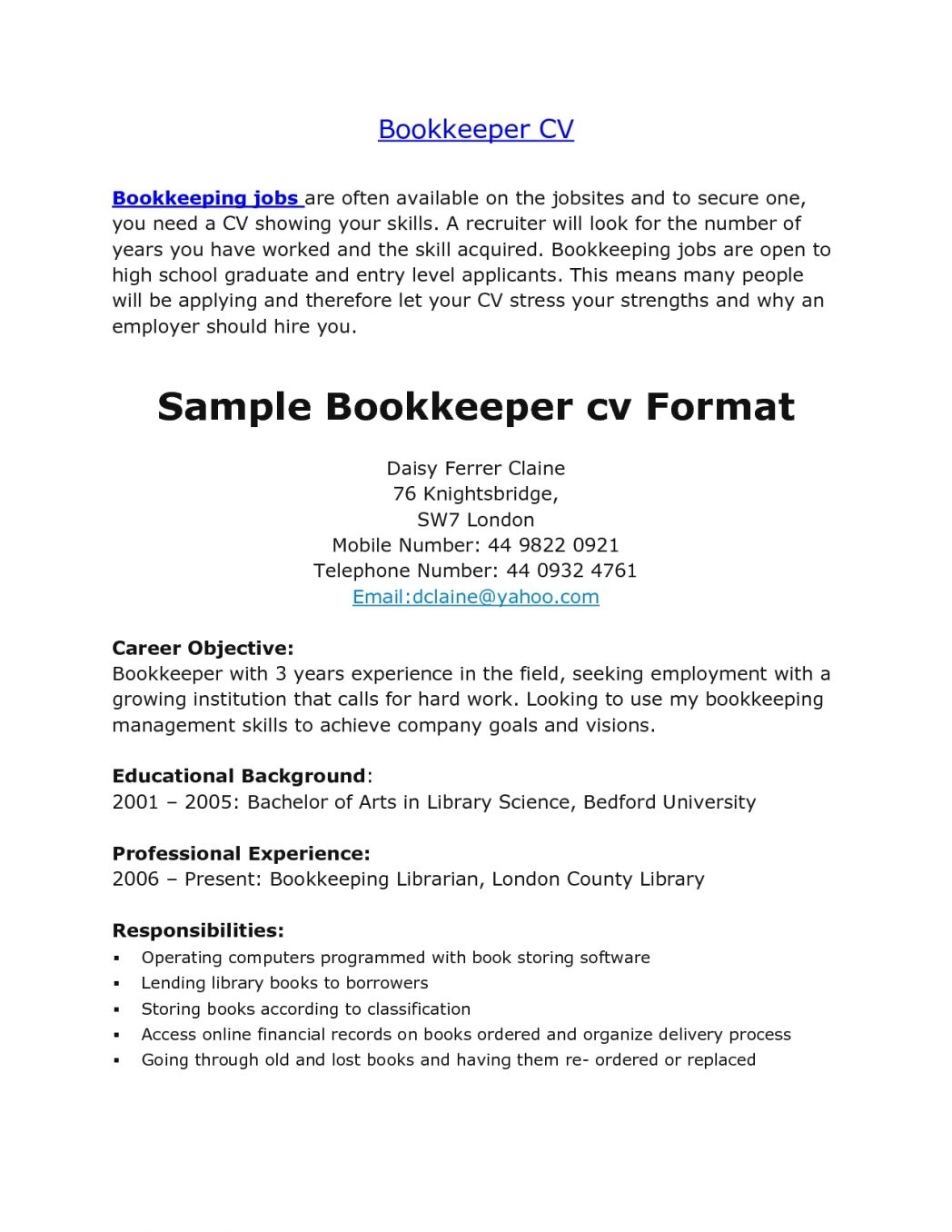First Resume Template Library Aide Sample Job Examples