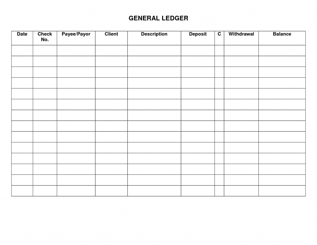 Free General Ledger Cash Receipts Journal Free
