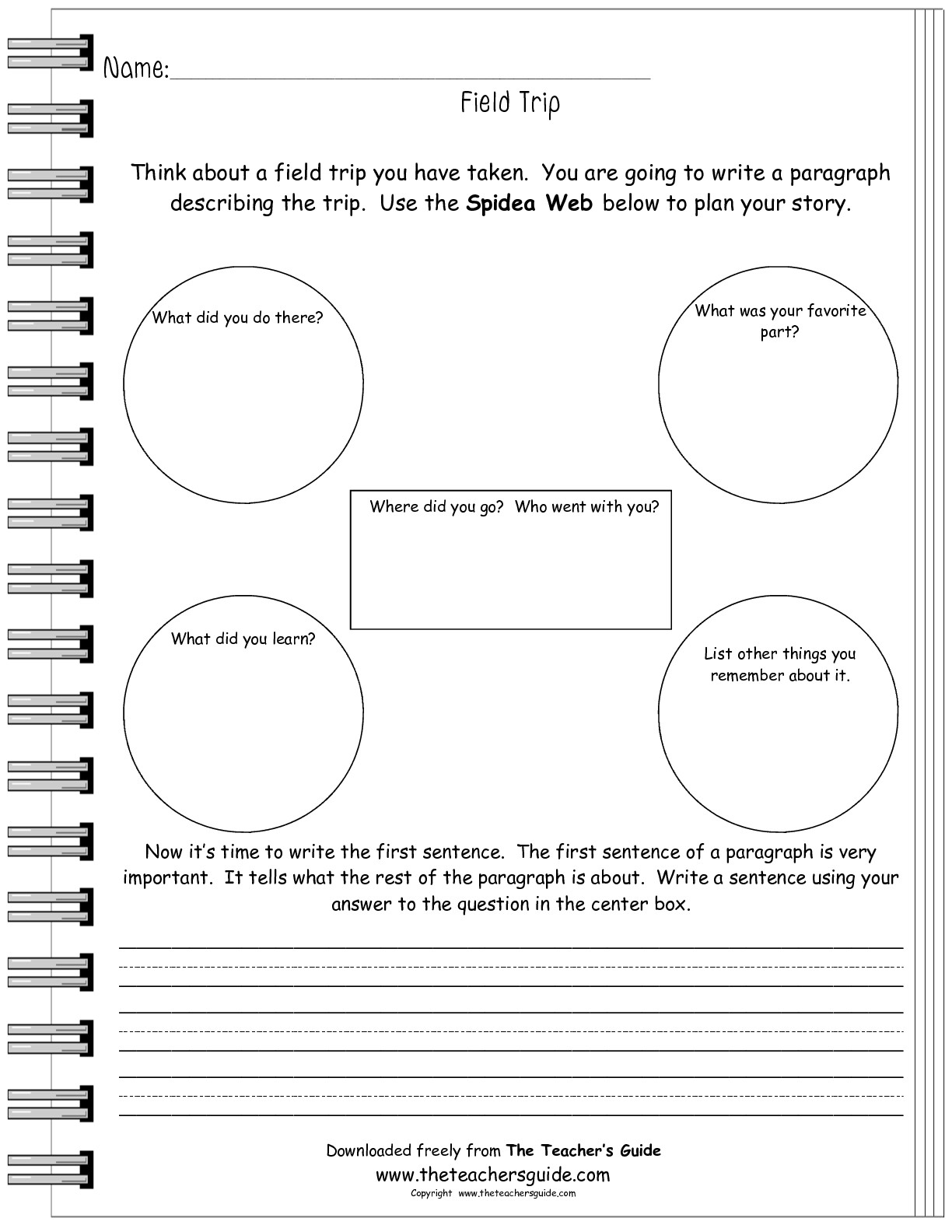 Free Writing And Language Arts From The Teacher S Guide In