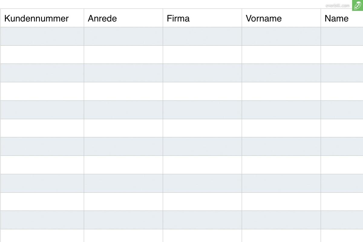 Kundenverwaltung Kostenlose Excel Vorlage Zum Download