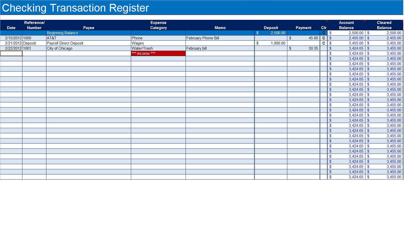 Labeled Accounting Ledger Template Printable Budget Ledger Template Within Excel Bank Account
