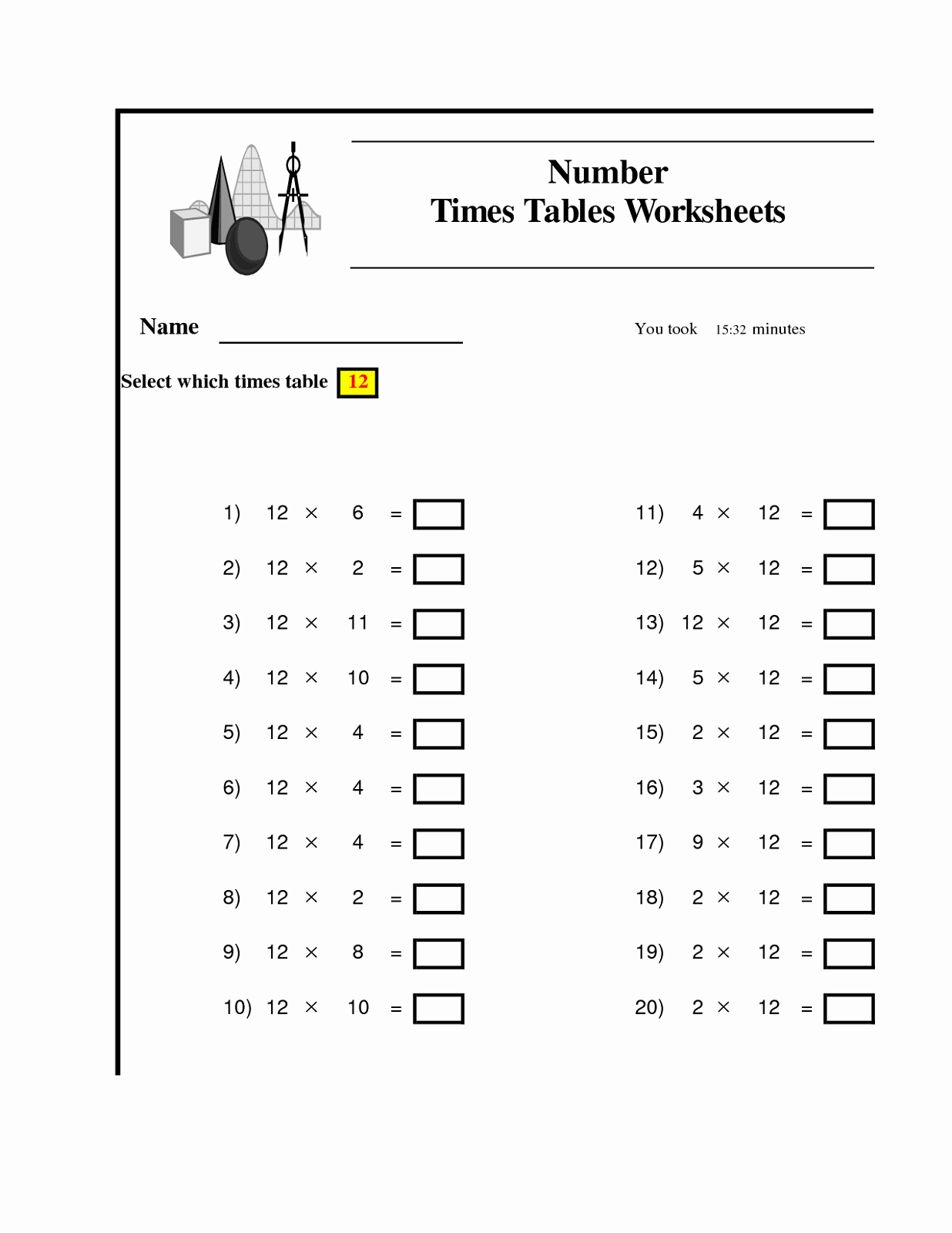 Math Multiplication Worksheet Generator