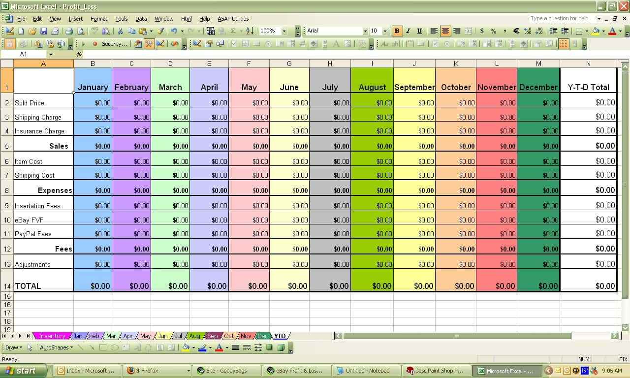 Monthly Business Expense Template Excel Spreadsheet