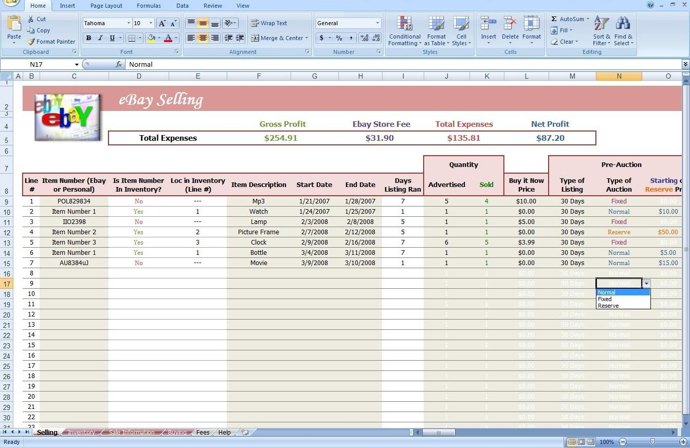 Profit And Loss Spreadsheet Template Template Examples