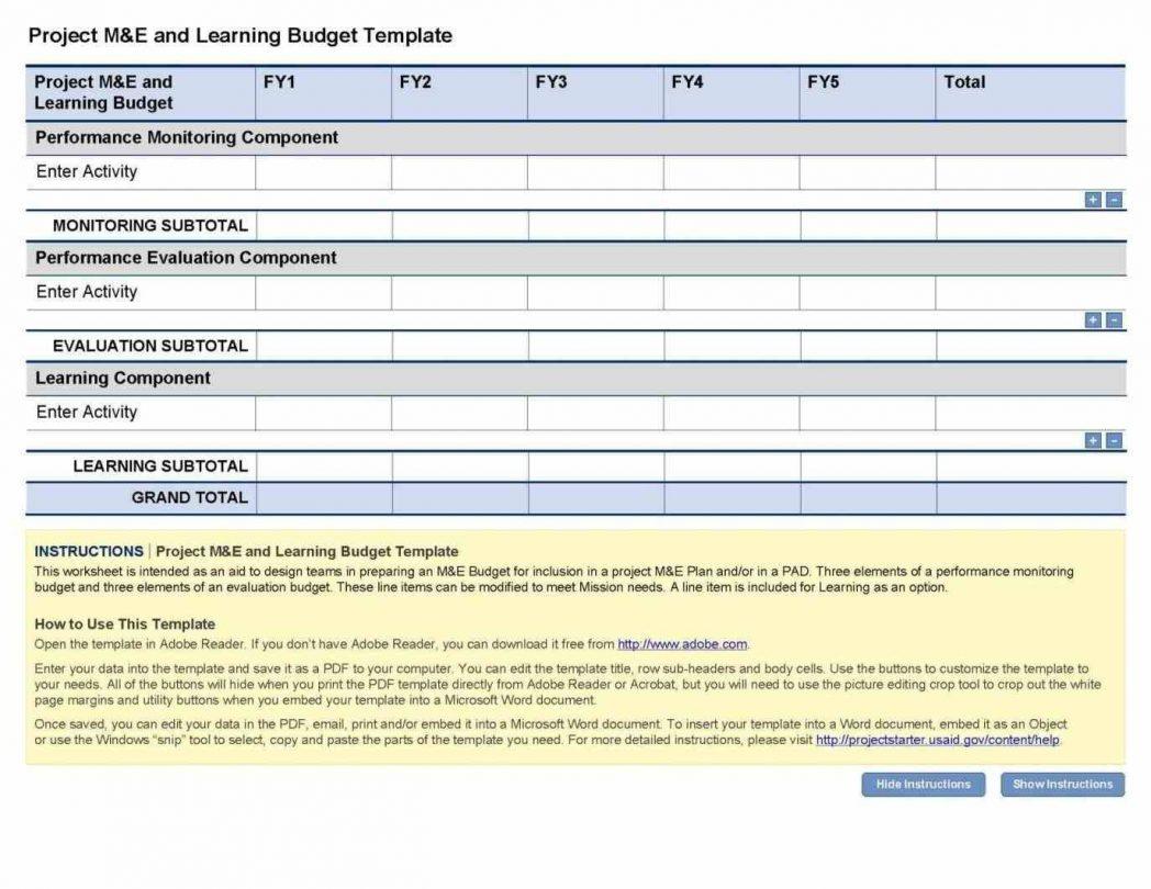 Project Management Budget Template Xls Home Renovation