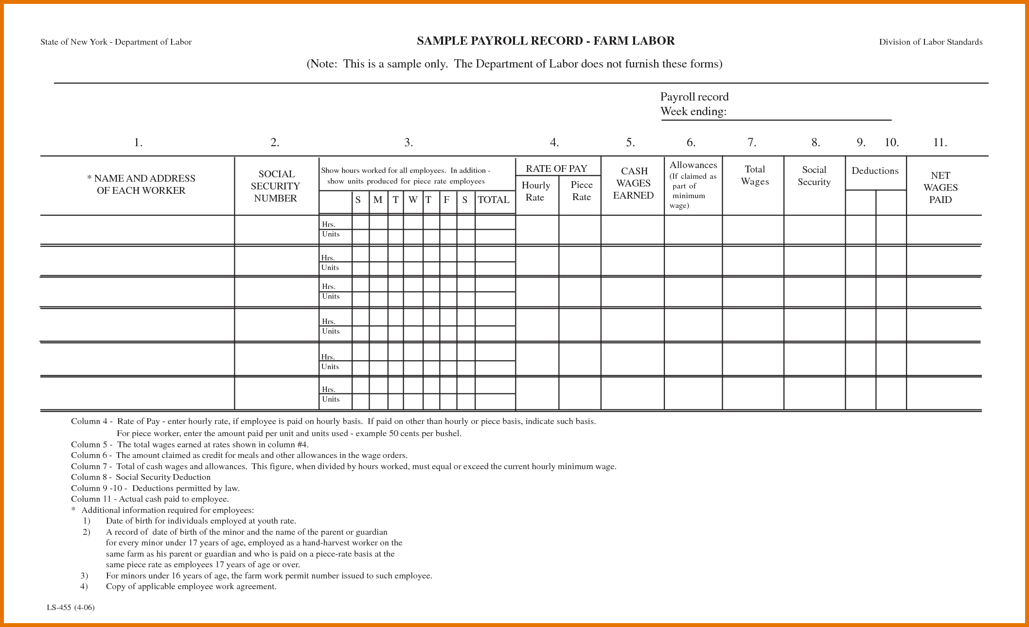 Quickbooks Payrolls Free Printable Payroll Forms To Free