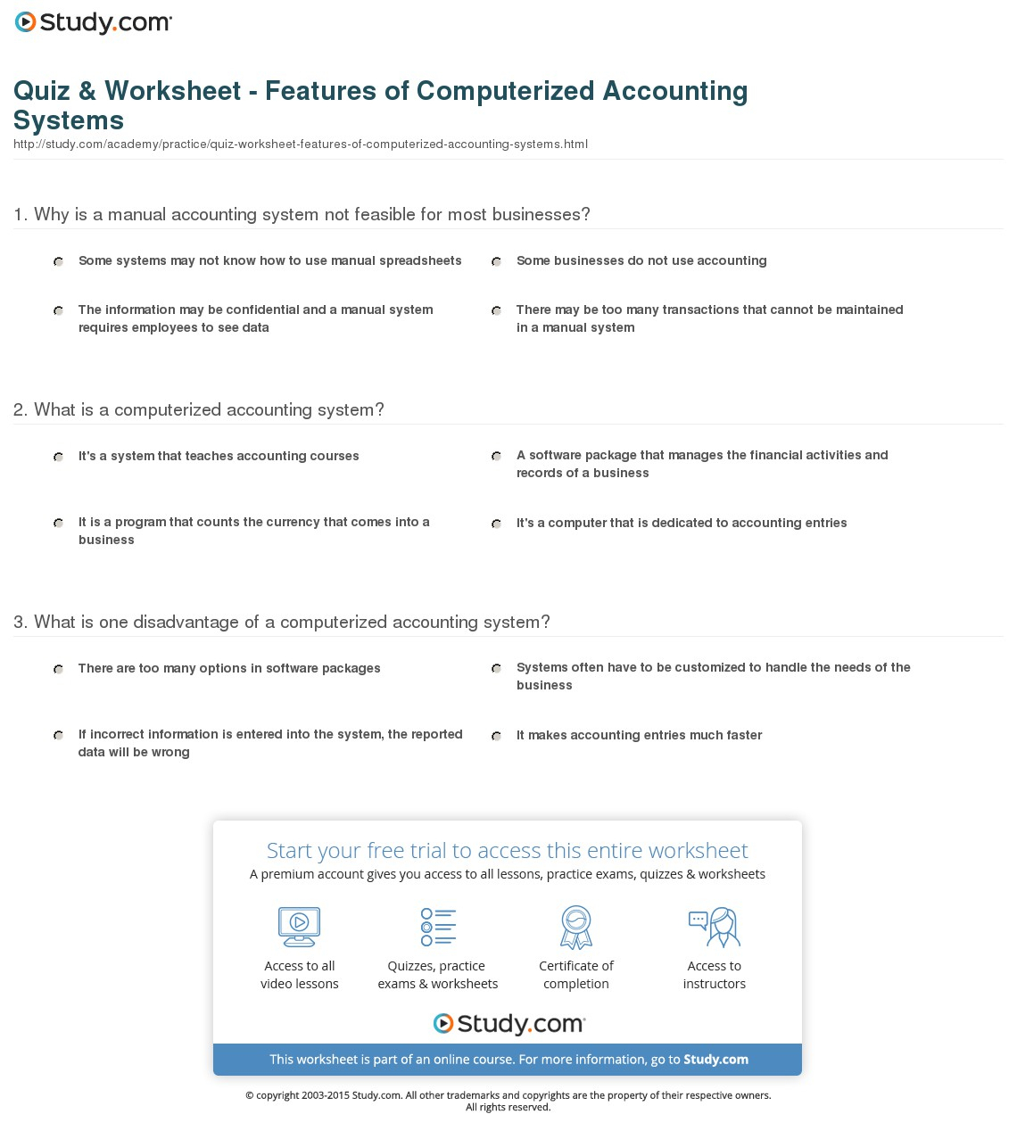Quiz Amp Worksheet Features Of Computerized Accounting