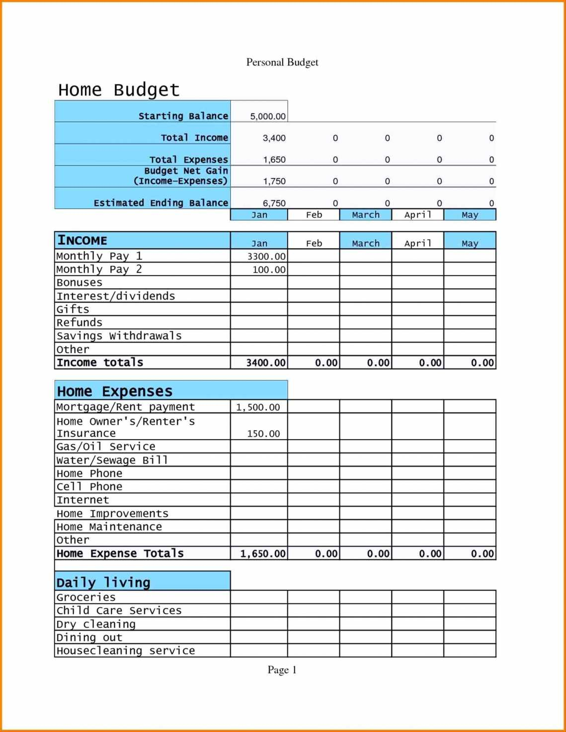 Construction Project Cost Estimate Template Excel Example