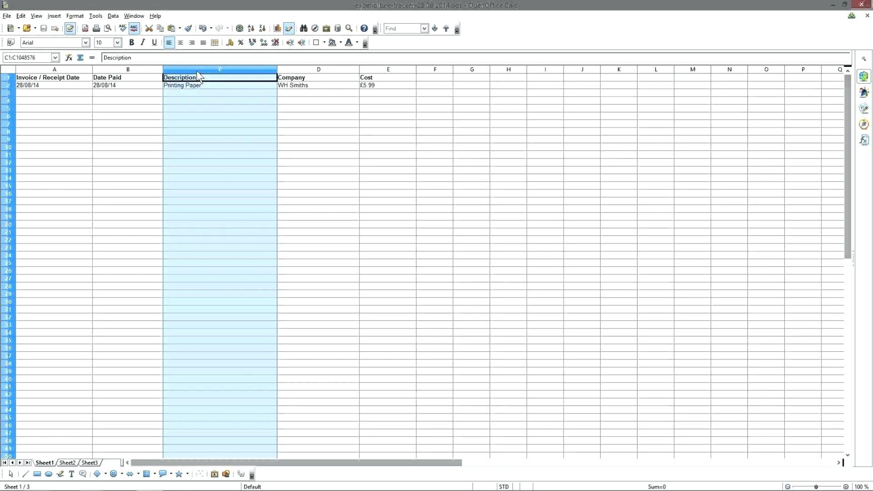 Simple Bookkeeping For Small Business Excel