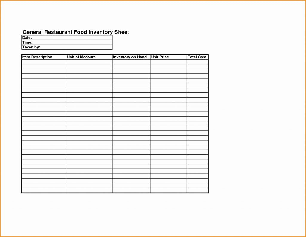 Alcohol Inventory Spreadsheet