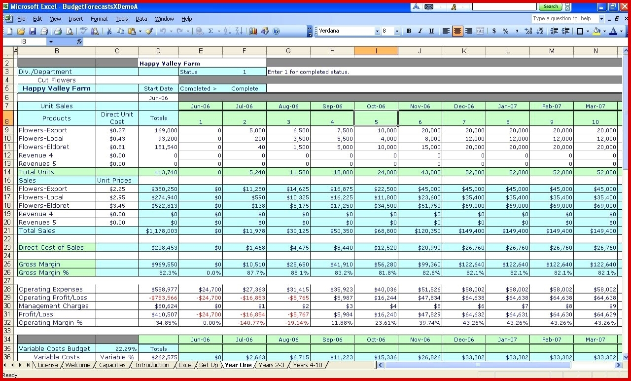 Basic Accounting Template For Small Business Spreadsheet
