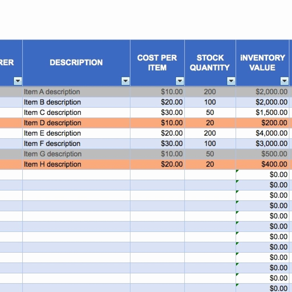 Business Inventory Spreadsheet For Small Awesome Of