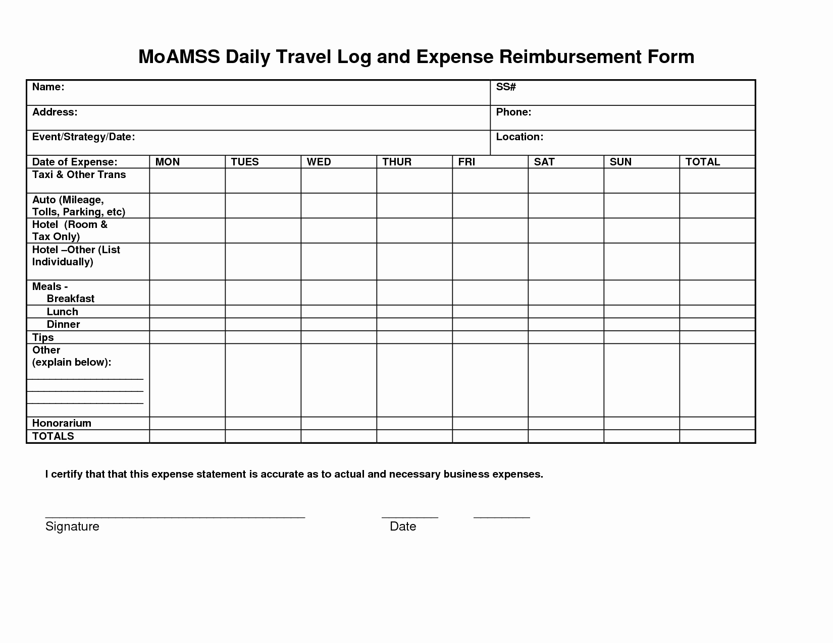Business Travel Log Template Unique Mileage Spreadsheet
