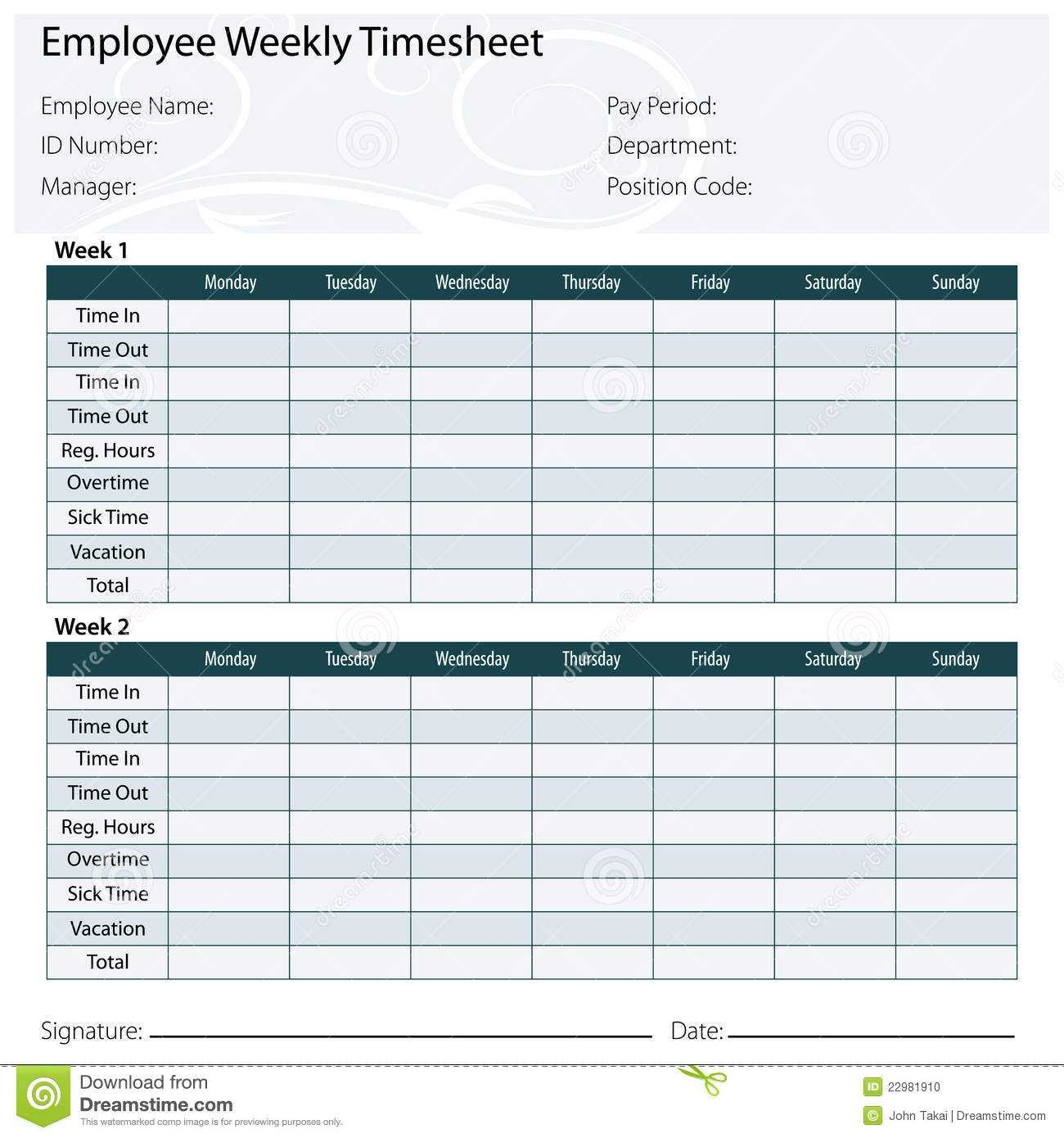 Employee Timesheet Spreadsheet Spreadsheet Softwar