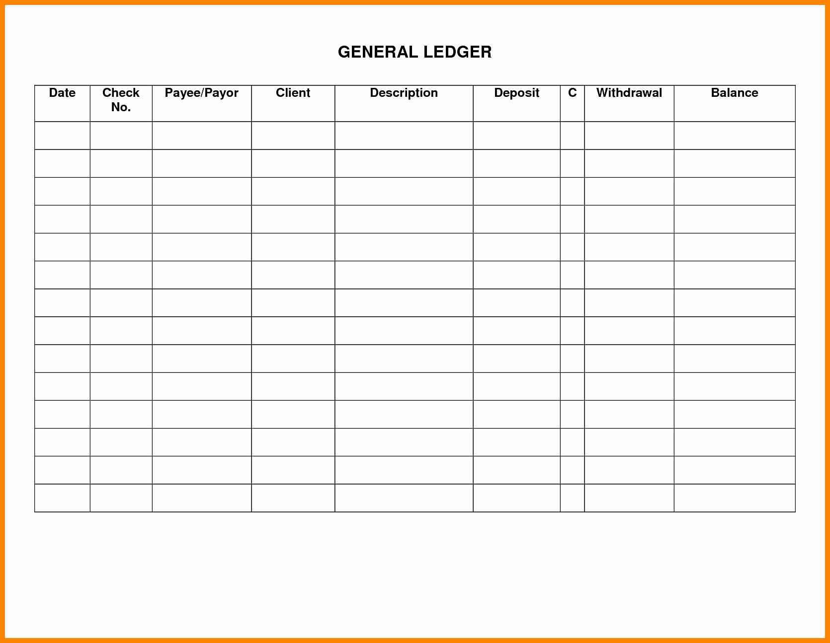 Excel Ledger Template Luxury General Ledger Template Excel