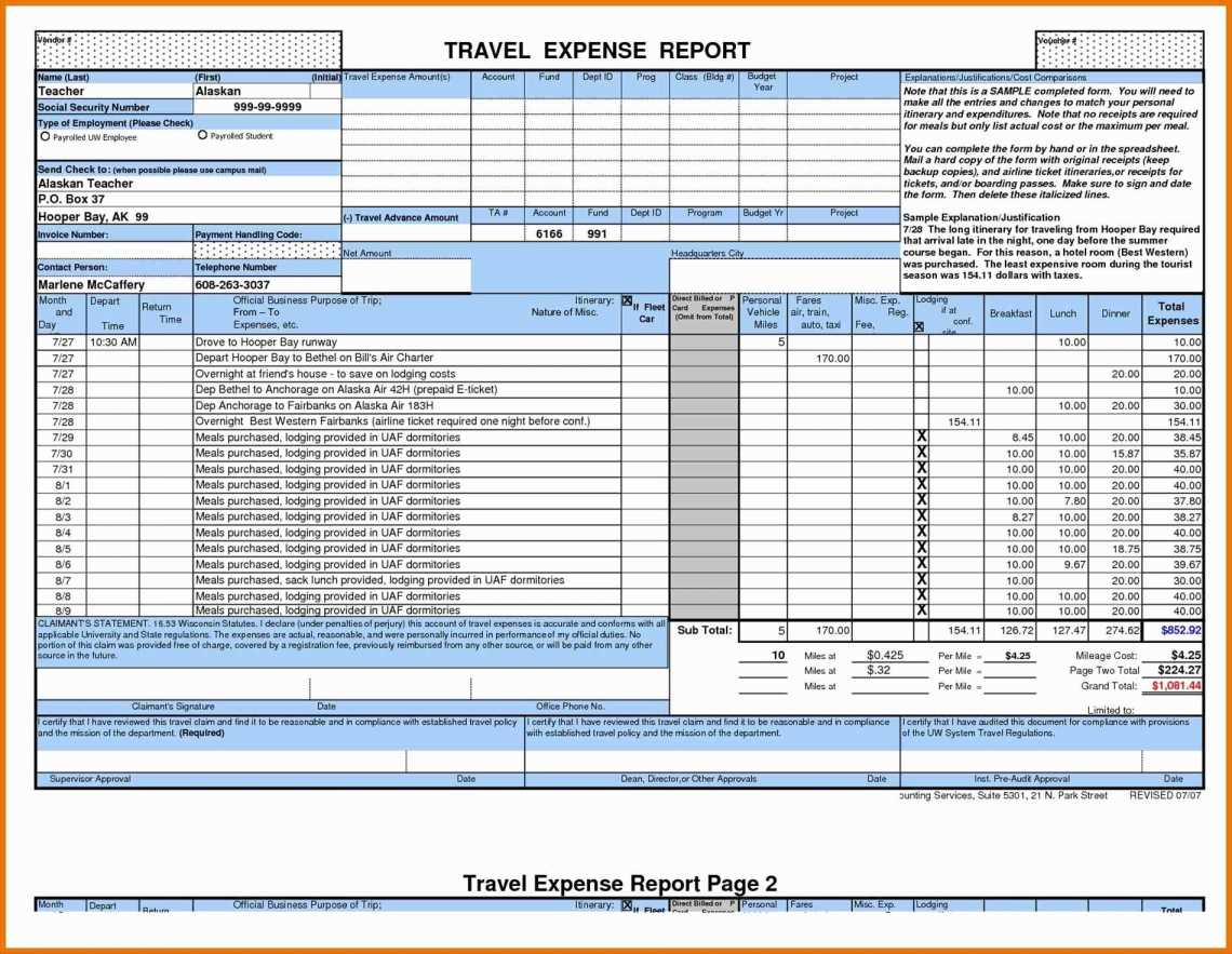 Business Travel Expense Policy Templates Business