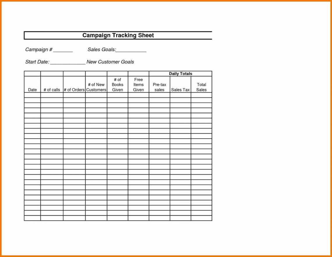 Expense Tracking Sheet