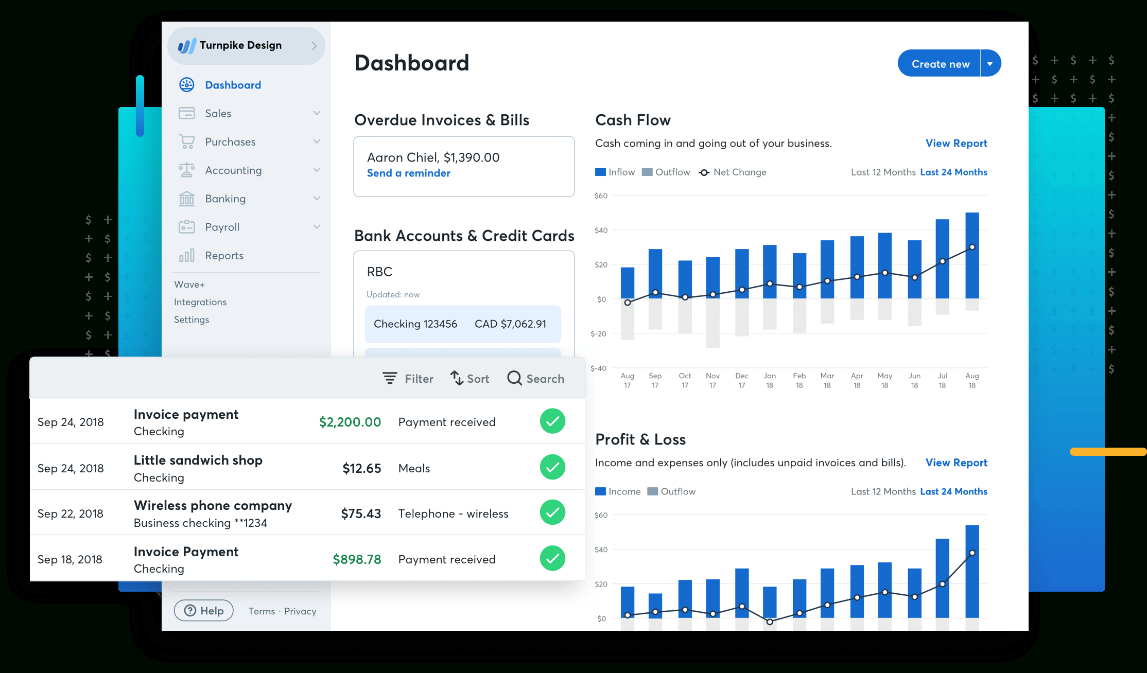Free Small Business Accounting Software Wave Within