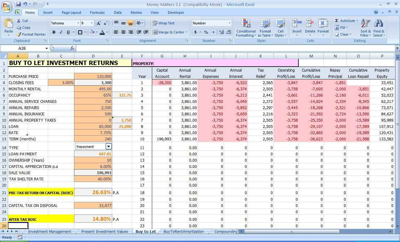 Income And Expenses Spreadsheet Small Business As