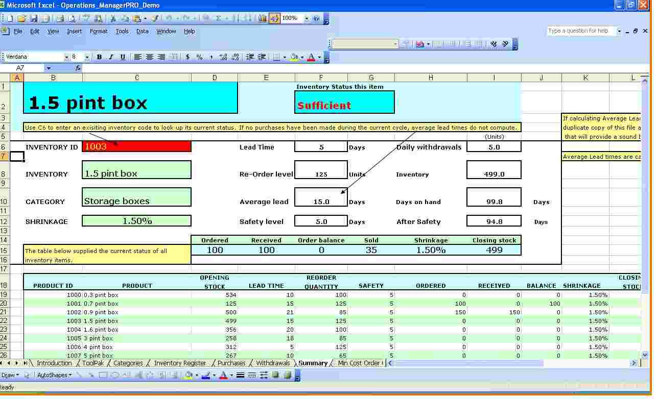 Inventory Management Excel Formulas Excels Download With
