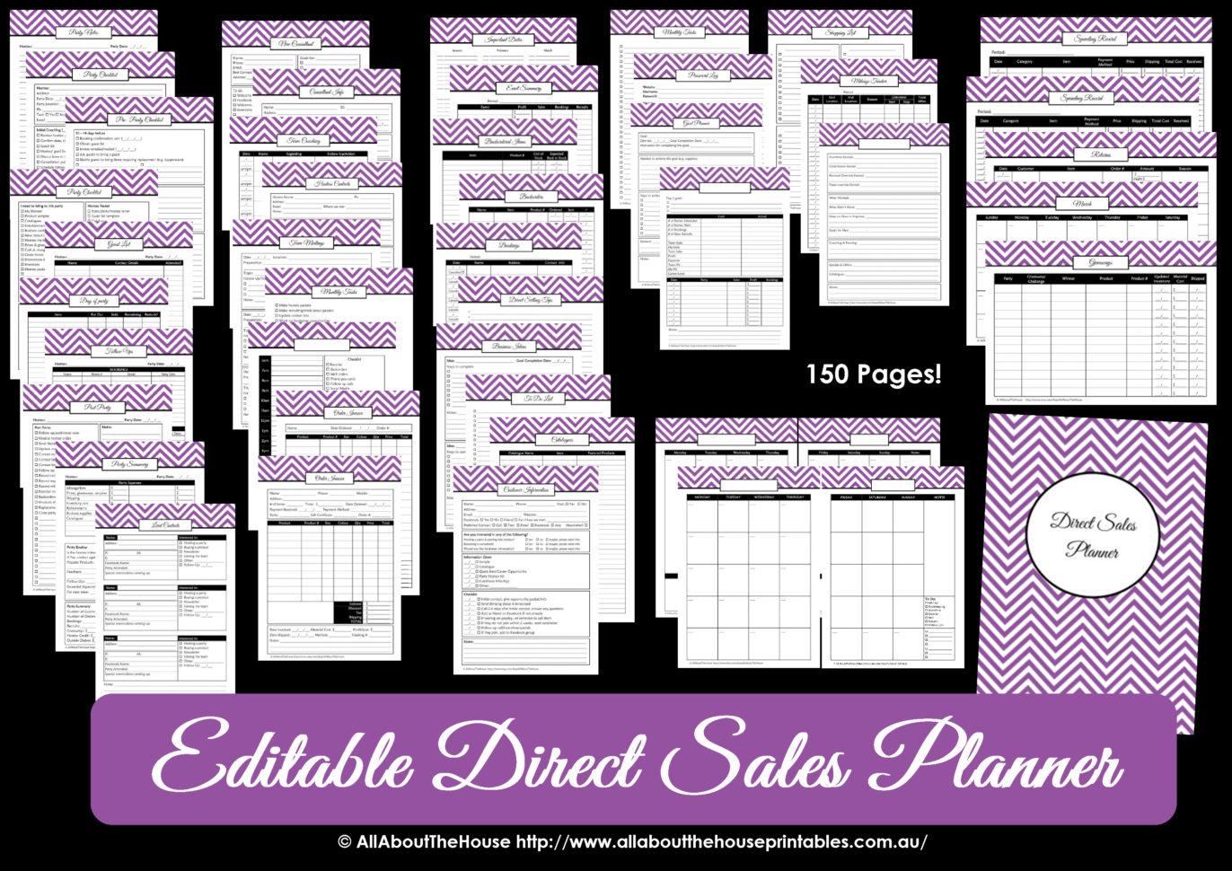 Printable Direct Sales Planner Editable And Mary Kay