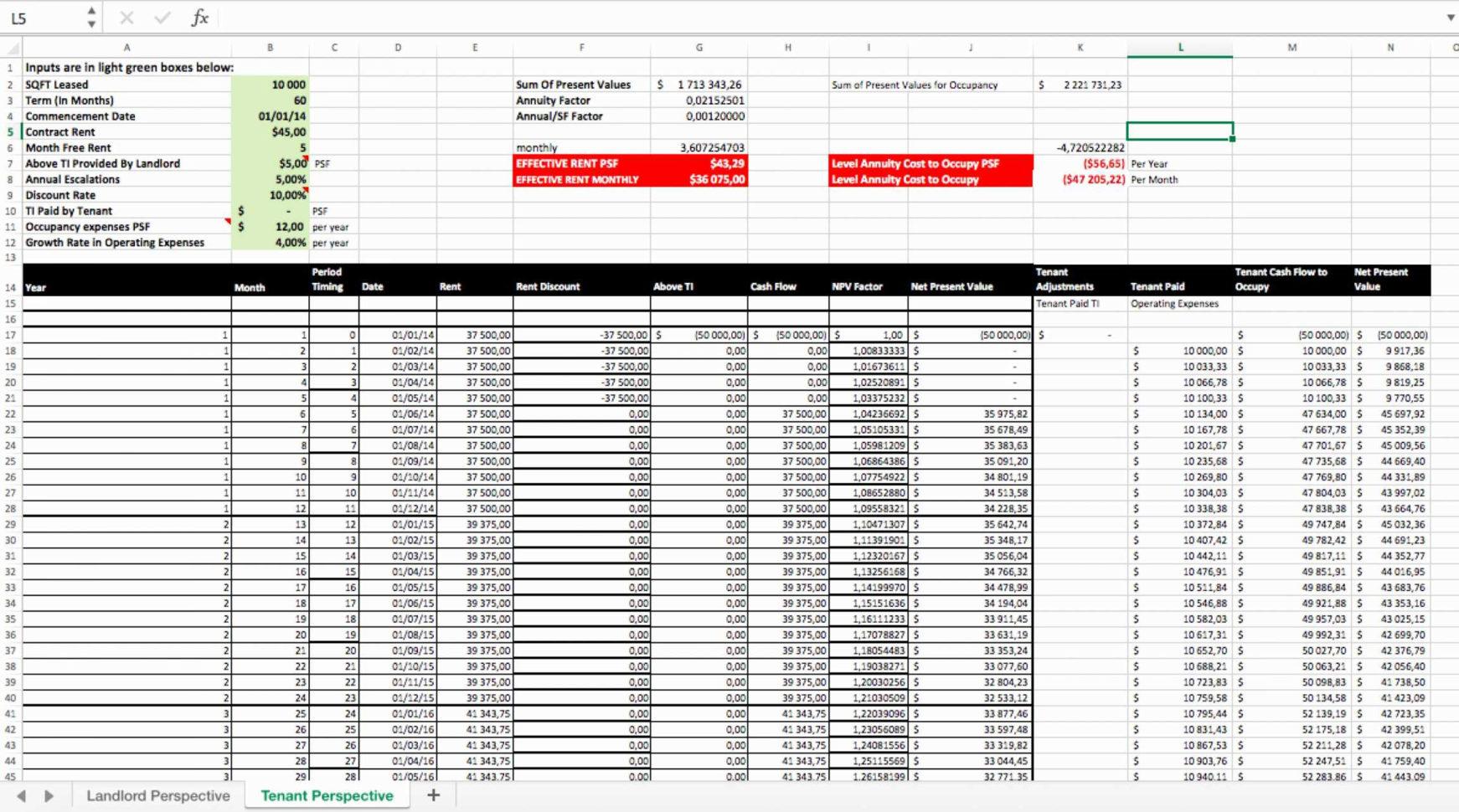 Retail Inventory Spreadsheet
