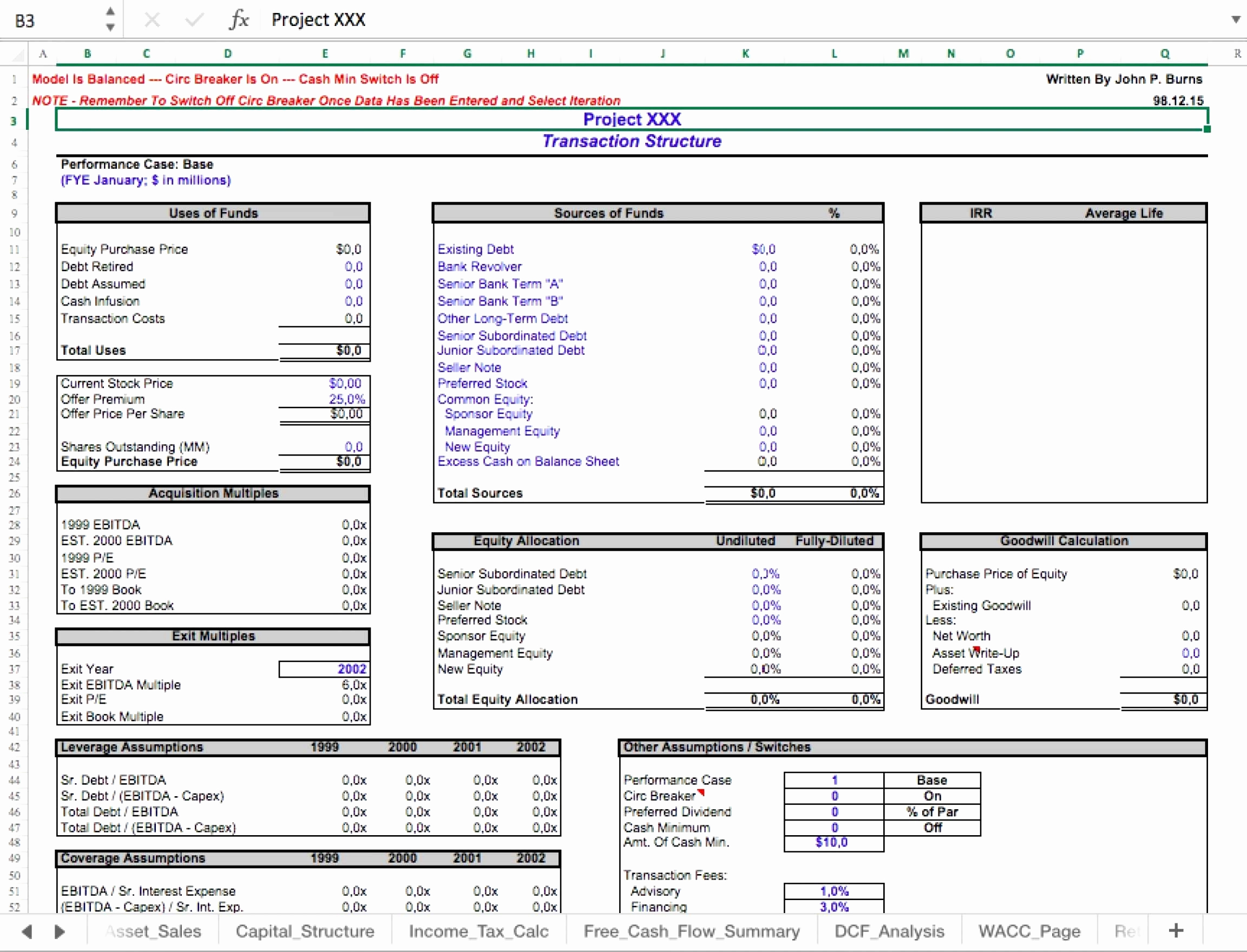 Small Business Valuation Template New Business Valuation