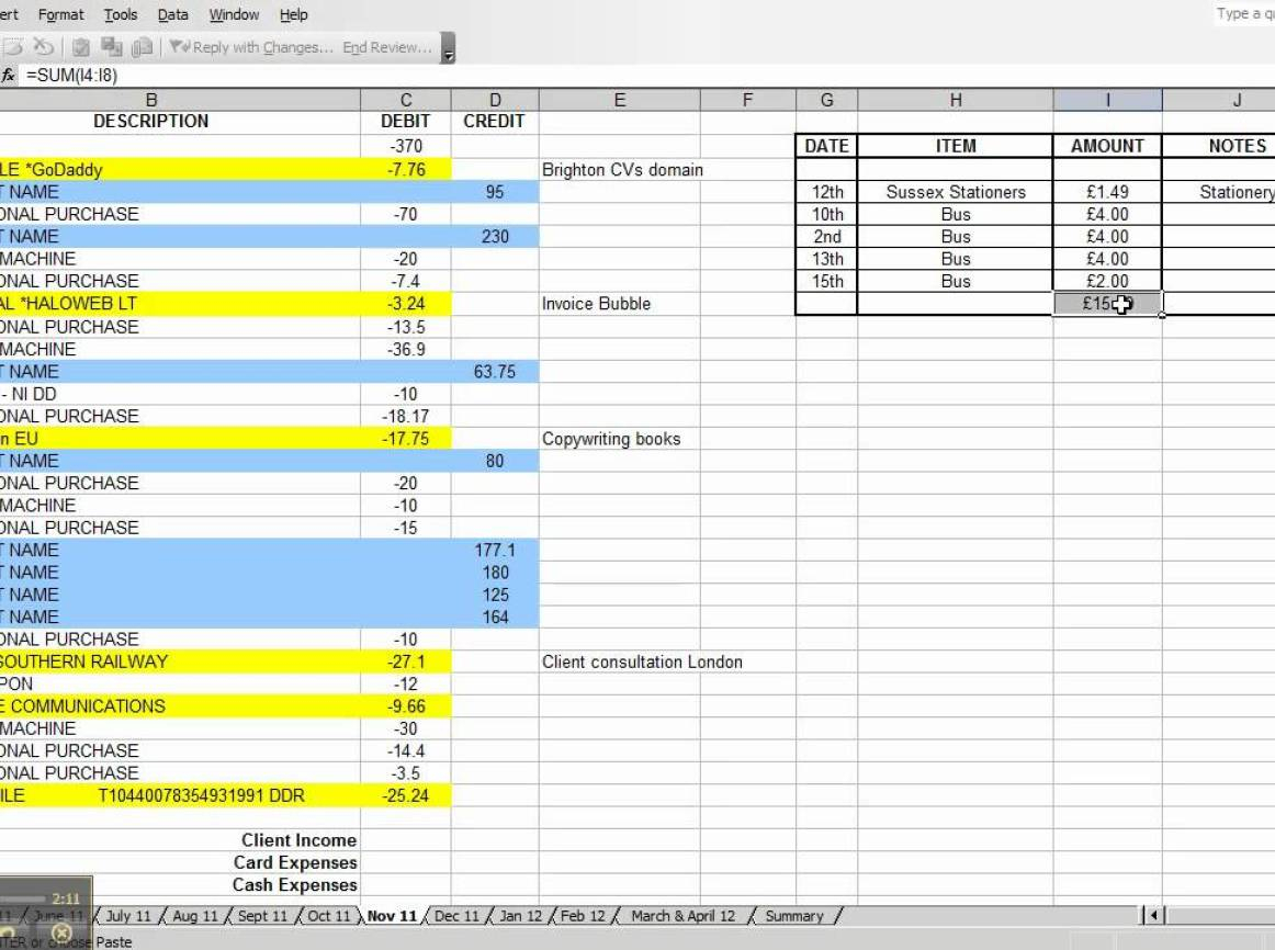 Expense Spreadsheet For Small Business Business Spreadshee