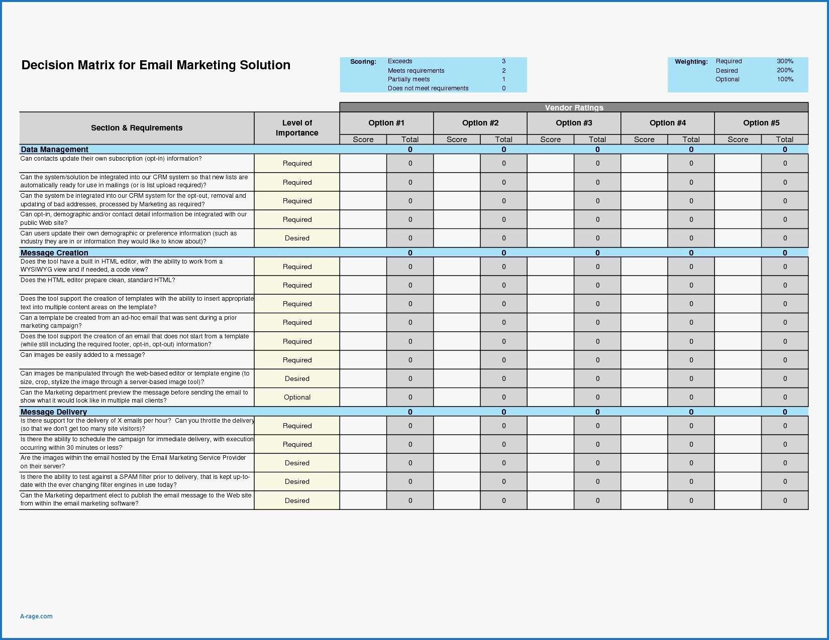 5x5 Spreadsheet Db Excel