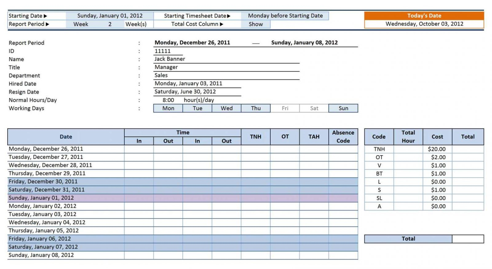 Absenteeism Tracking Spreadsheet With Regard To Timesheet