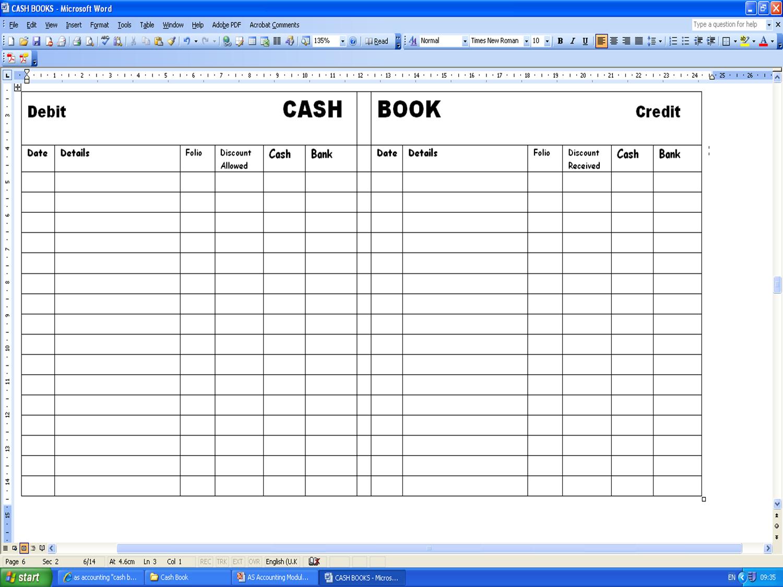 Account Keeping Excel Spreadsheet Regarding Free Excel