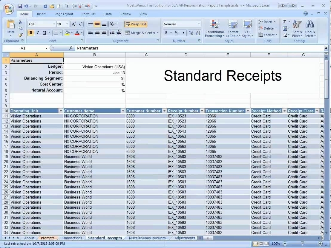 Accounts Receivable Excel Spreadsheet Template Free Within