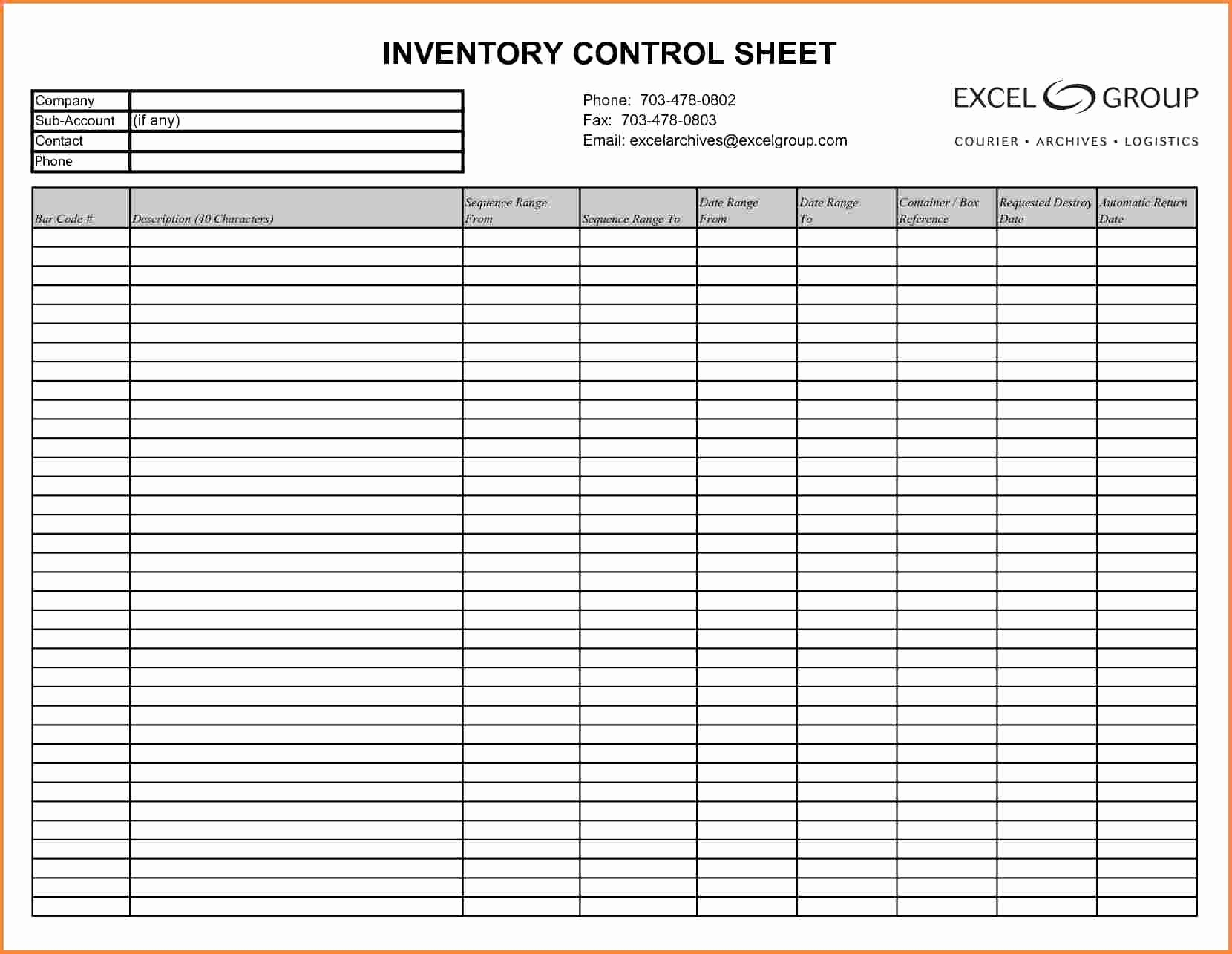 Ammunition Inventory Spreadsheet With Sample Inventory