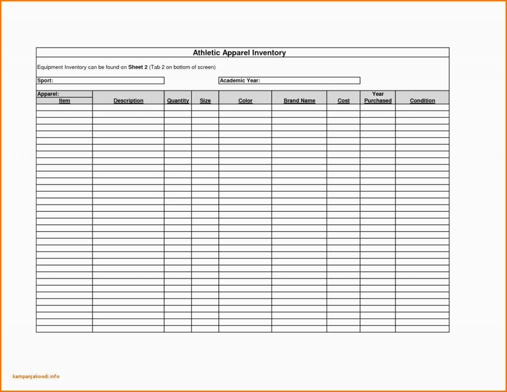 Athletic Director Budget Spreadsheet With Monthly Bills