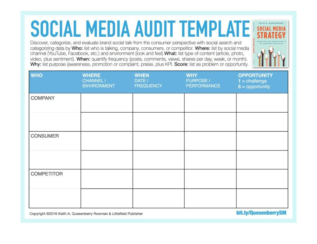 Audit Spreadsheet Templates Throughout Sample Social Media