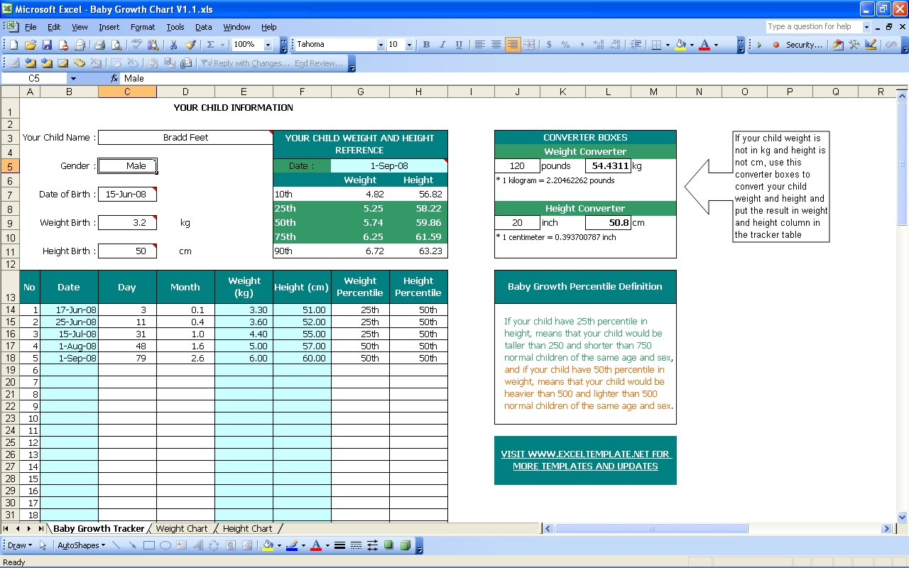Baby Excel Spreadsheet Db Excel