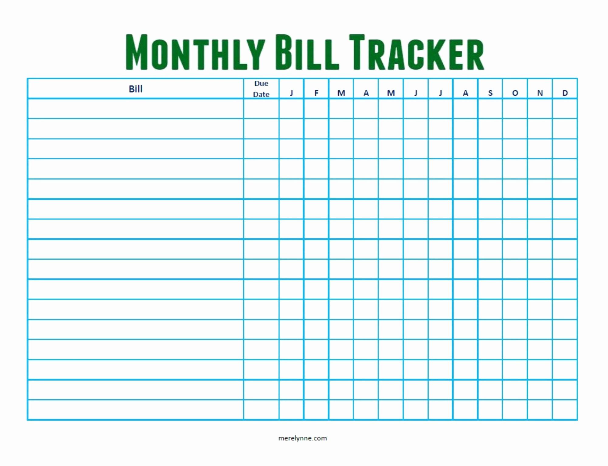 Spreadsheet Template Page 190 Bill Tracker Spreadsheet