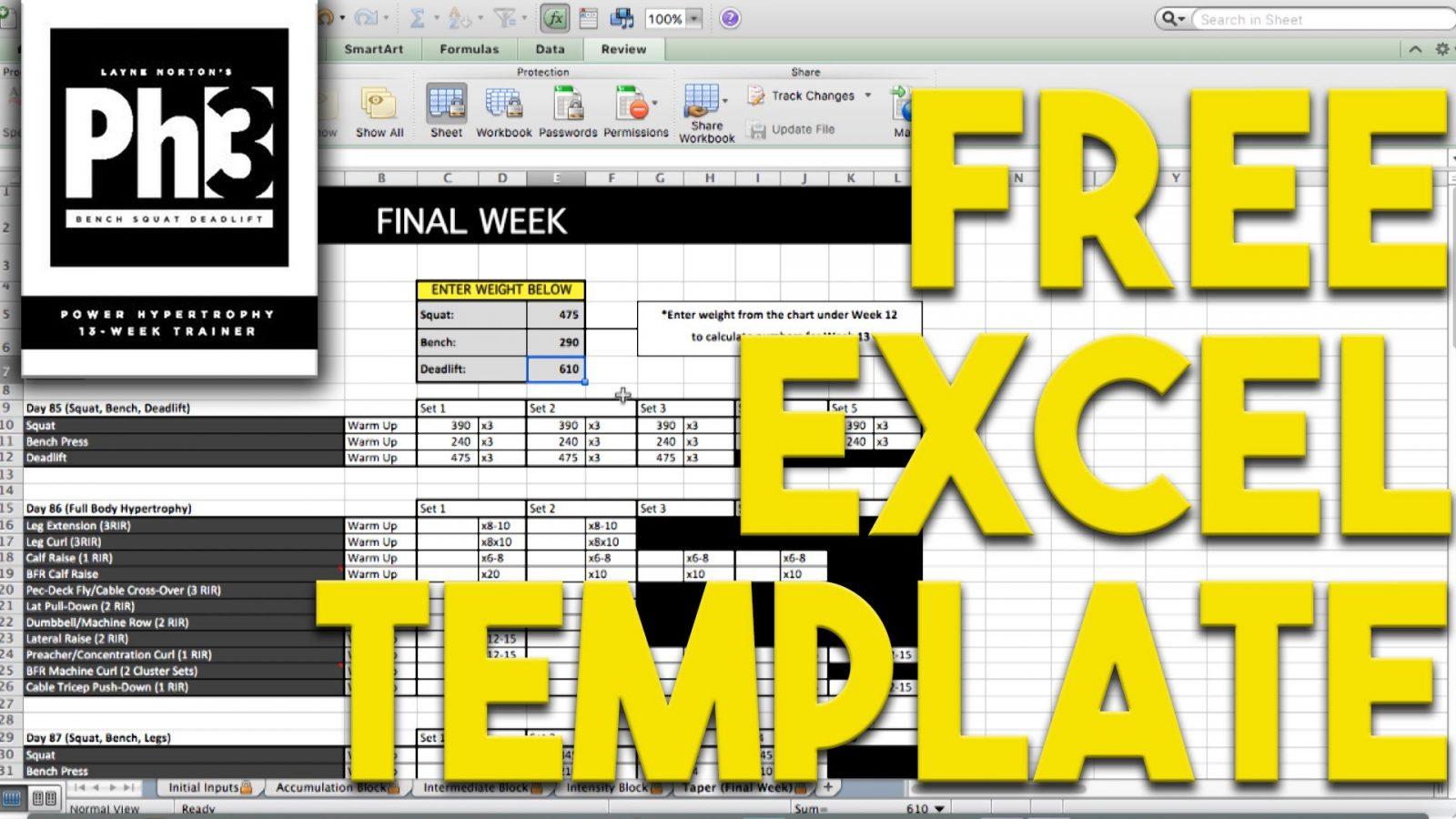 Bodybuilding Excel Spreadsheet Spreadshee