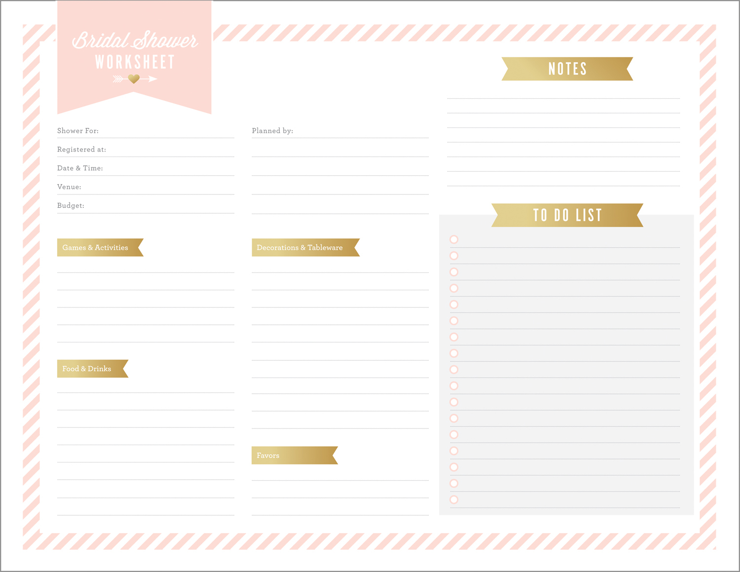 Bridal Shower Planning Spreadsheet Pertaining To Free